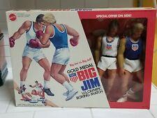 1974 Vintage Mattel Big Jim vs big jeff Gold Medal Boxer set in box Unopene