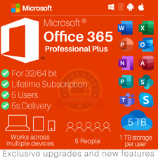 Microsoft Office 365 Pro Plus 2019 💥 Account Lifetime 5 Devices for Wind/Mac💥
