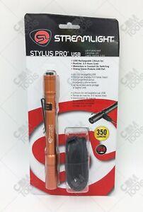 Streamlight 66147 Stylus Pro® USB LED Rechargeable Pen Light ORANGE
