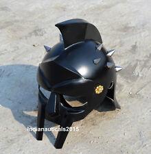 Armor BLACK Gladiator Helmet Medieval Helmet of Maximus