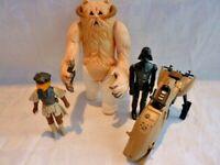 Vintage Star Wars Darth Vader, Leia Boushh, Hoth Wampa & Speeder Bundle Job Lot