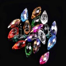 10pcs 6x12mm Assorted Teardrop Faceted Loose Crystal Beads Jewelry DIY IFCR0384