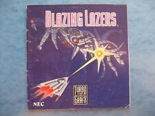 BLAZING LAZERS TURBOGRAFX-16 TURBOGRAFX 16 1989 *MANUAL ONLY* ACTUAL PICTURES