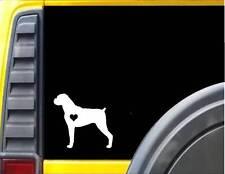 Boxer Little Heart J595 6 inch dog Sticker decal