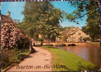 England Bourton-on-the-Water Old Mill Bridge - posted 1989