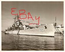 1960 8X10 USN PHOTOGRAPH OF THE U.S.S. ALBANY CA-123 CLOSE UP VIEW IN PORT LOOK