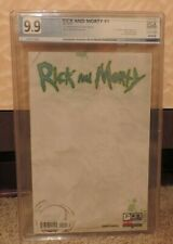Oni Press Rick And Morty #1 Convention Exclusive Blank Sketch Variant PGX 9.9