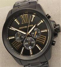 Michael Kors WREN Chronograph Watch MK8767 Men's Black Stainless Steel $275 NEW