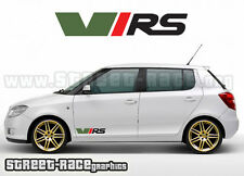 Skoda VRS 010 small side logos decals stickers graphics vinyl