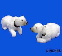 NEW MOVING HEAD WHITE POLAR BEARS bear ARTIC novelty toy BOBBLE HEADS animail
