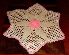 """Vintage 18"""" Hand Crocheted Dolly / Table Centerpiece or Scarf"""