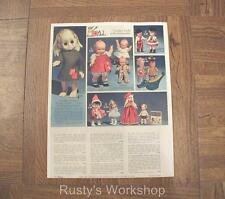 1966 LITTLE MISS NO-NAME & Ideal PEBBLES & KEWPIE Dolls catalog AD Reproduction)
