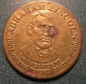 The 16th POTUS Abraham Lincoln Commemorative Medal Token