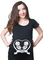 Twins Pregnancy T-shirt Tee Shirt Twins Maternity Tee Shirt