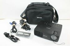 InFocus IN1110a DLP 3D Ready HDMI VGA Projector w/ Case, Cables, Remote 140 Hrs