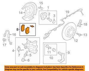 VW VOLKSWAGEN OEM 15-18 Passat Brake-Rear Pads 7N0698451A