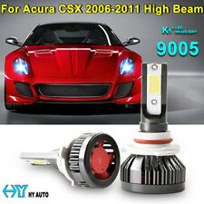 9005 HB3 Car COB LED Headlight Kit High Beam Bulbs For Acura CSX 2006-2011 6500K