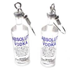 Vodka Bottle Earrings Funny Drinking Cartoon Transparent Bottle Dangle Earring