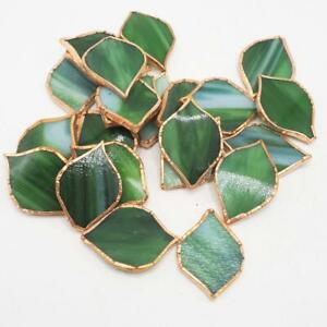 Lot of 24pcs Copper Foil Wrapped Stained Glass Leaves
