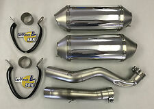 09-11 GSXR1000 Leo Vince Unlimited DUAL Slip On Exhaust Polished 2009 2010 2011