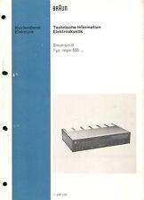 Braun Service Manual für Regie 525