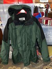 Columbia Green/Black Men's XL winter coat jacket parka zip liner cinched waist