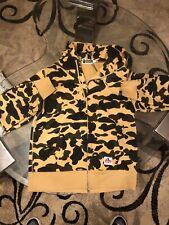 Bathing Ape 1st Gen Yellow Camo GORE Windstopper Hoodie Full Zip 100% Authentic