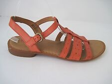 BORN Marisol Women's Coral Leather T-Strap Slide Thong Sandals Size 11/43