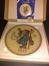 Collectible Hummel Plate 1972 Annual plate made in West Germany