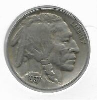Rare Old Antique 1937 US Buffalo Indian Nickel Collection Great USA Coin LOT:V73