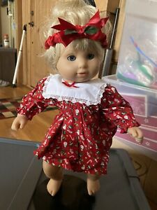 American Girl Doll Bitty Baby Christmas Dress and Headband new doll not included