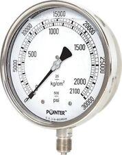 High Pressure Gauge Dual Scale 0 2000 Bar 0 30000 Psi