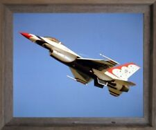 Thunderbird Airplane Aviation Wall Decor Barnwood Framed Picture Art Print 19x23