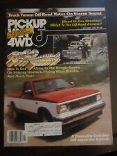 Pickup Van & 4WD Magazine October 1981 GM S-Truck Four Wheeling Isuzu (AR)