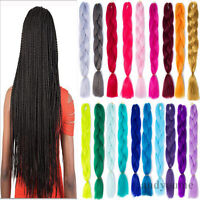 "24"" Ombre Dip Dye Kanekalon Jumbo Braid False Hair Extensions High Quality Fiber"