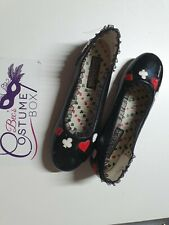 QUEEN OF HEARTS FLATS SHOES FUNTASMA Costume - Pre Loved