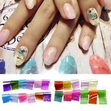 Vidrio Papel Decoración Arte De Uñas Manicura DIY 20 Colores Aleatorios