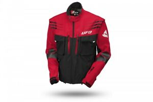 UFO 2021 Tiaga Enduro Jacket  - Red Black  - Removable sleeves - ALL Sizes