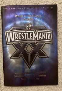 WWE WRESTLEMANIA XX 20 OFFICIAL PROGRAM - MARCH 14, 2004 - MADISON SQUARE GARDEN