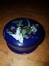 Pillendose Dose Porzellan Asiatisch Vintage Deko mit Deckel Goldrand