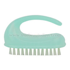 TRANSLUCENT BLUE PLASTIC NAIL BRUSH STRONG BRISTLES & CURVED HANDLE SEE IN SHOP