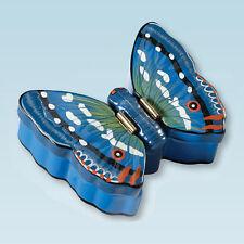 Blue Butterfly Double Trinket Box