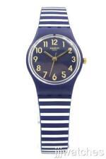 New Swatch Originals Lady ORA D'ARIA Navy Blue Silicone Petite Watch LN153 $60