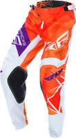 FLY RACING KINETIC CRUX MX PANTS ORANGE/PURPLE MENS
