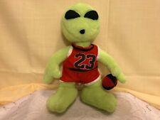 "Nanco Alien Neon Plush 12"" Chicago Bulls Michael Jordan Basketball Vintage"