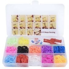 600x Loom Rubber Bands & Needle Board Bracelet DIY Kit Tool #ev