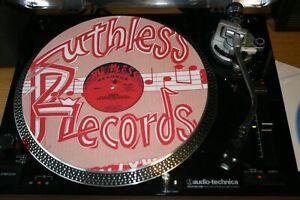 """RUTHLESS RECORDS  EAZY E  NWA  12""""  VINYL RECORD FELT  SLIPMAT  RAP  HIP HOP"""