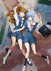 Anime Neon Genesis Evangelion Eva Asuka Poster Group High Grade Glossy Laminated