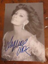 Sophia Loren autographed postcard signed Academy Award Grammy Golden Globes