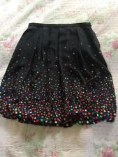 HOBBS Black Silk Multi Spots Print Bubble Hem Skirt-sz10/ Like 8 One Off Sample